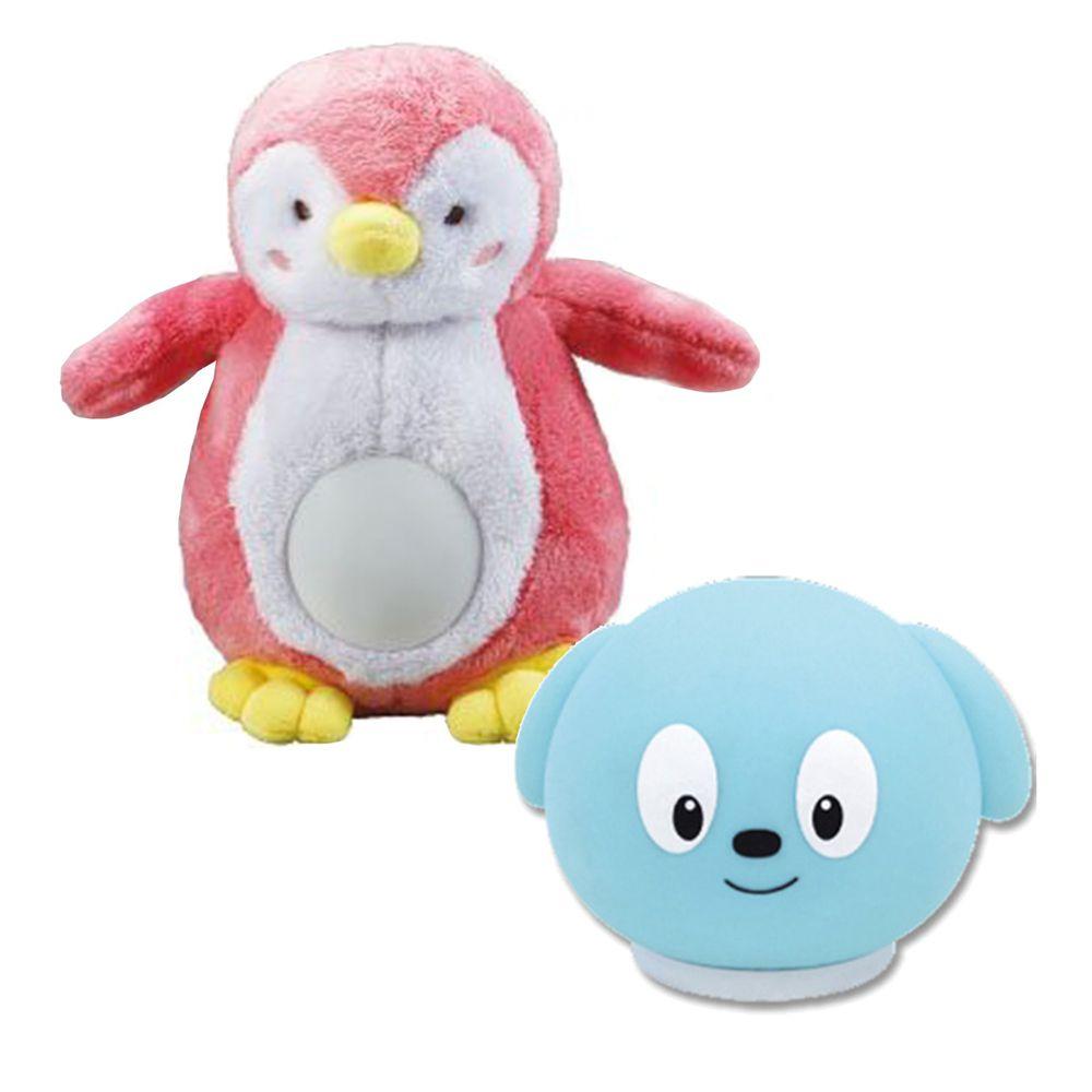 小牛津 - 合購組-安撫企鵝(粉)+舒眠音樂小夜燈(藍)