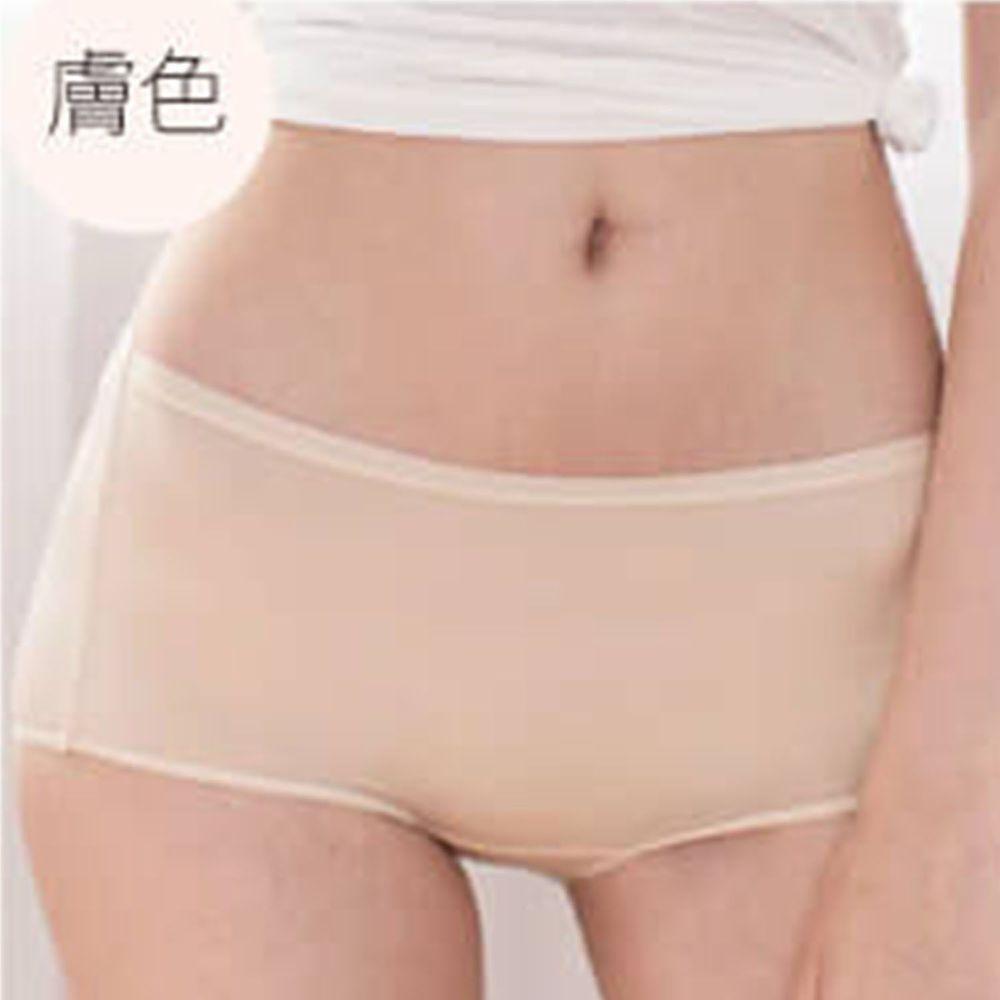 貝柔 Peilou - 天絲棉舒膚平衡女三角內褲-中腰-膚色