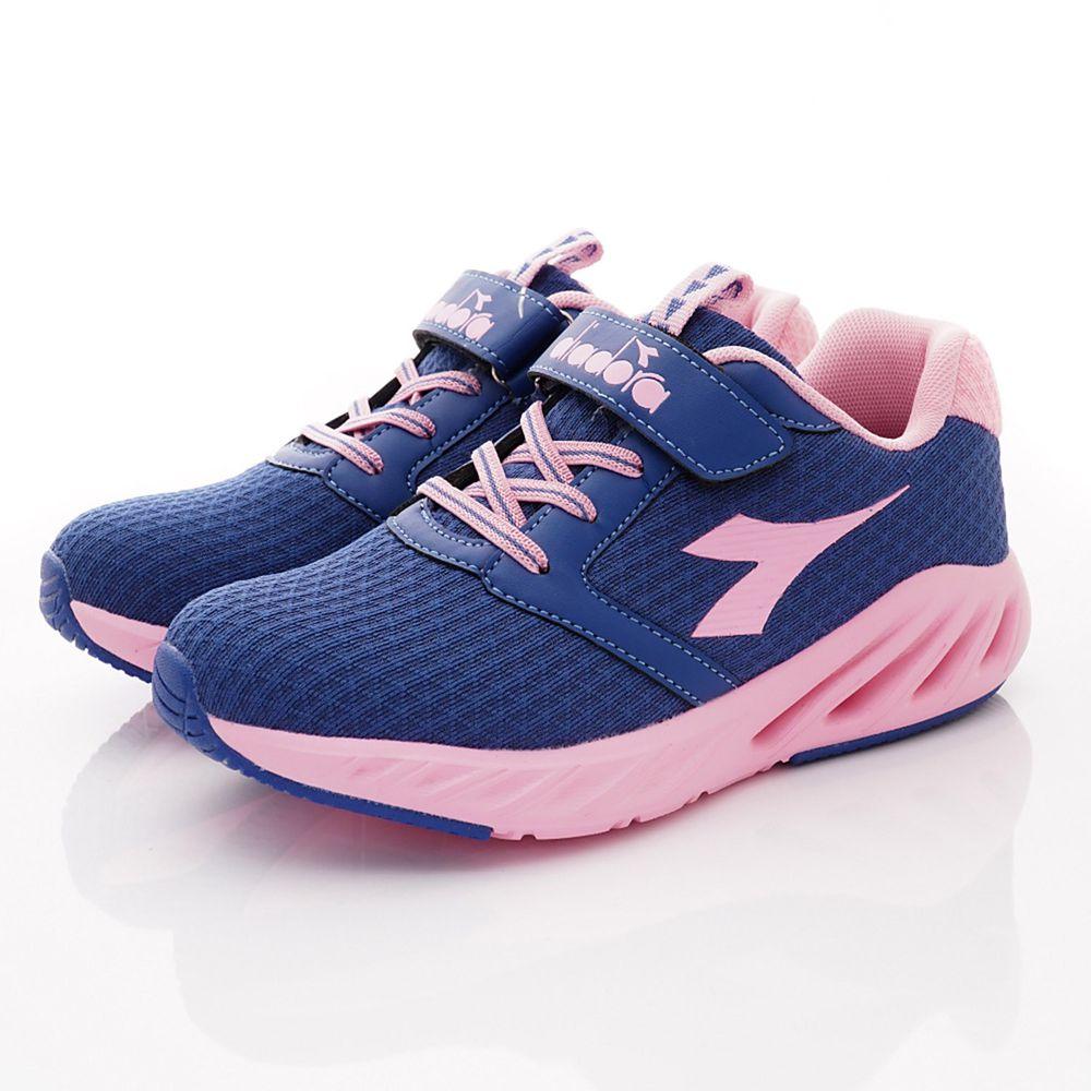 義大利 DIADORA - 春夏新品義式競速運動潮流鞋款(大童段)-藍粉