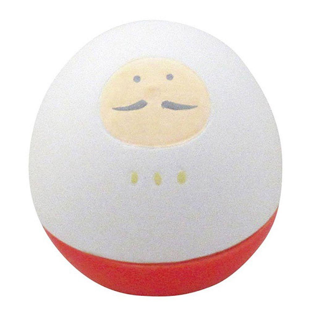 日本 DECOLE - 療癒精油陶土擴香石小公仔擺飾-不倒翁款-達摩 (φ5.2x5.6cm)