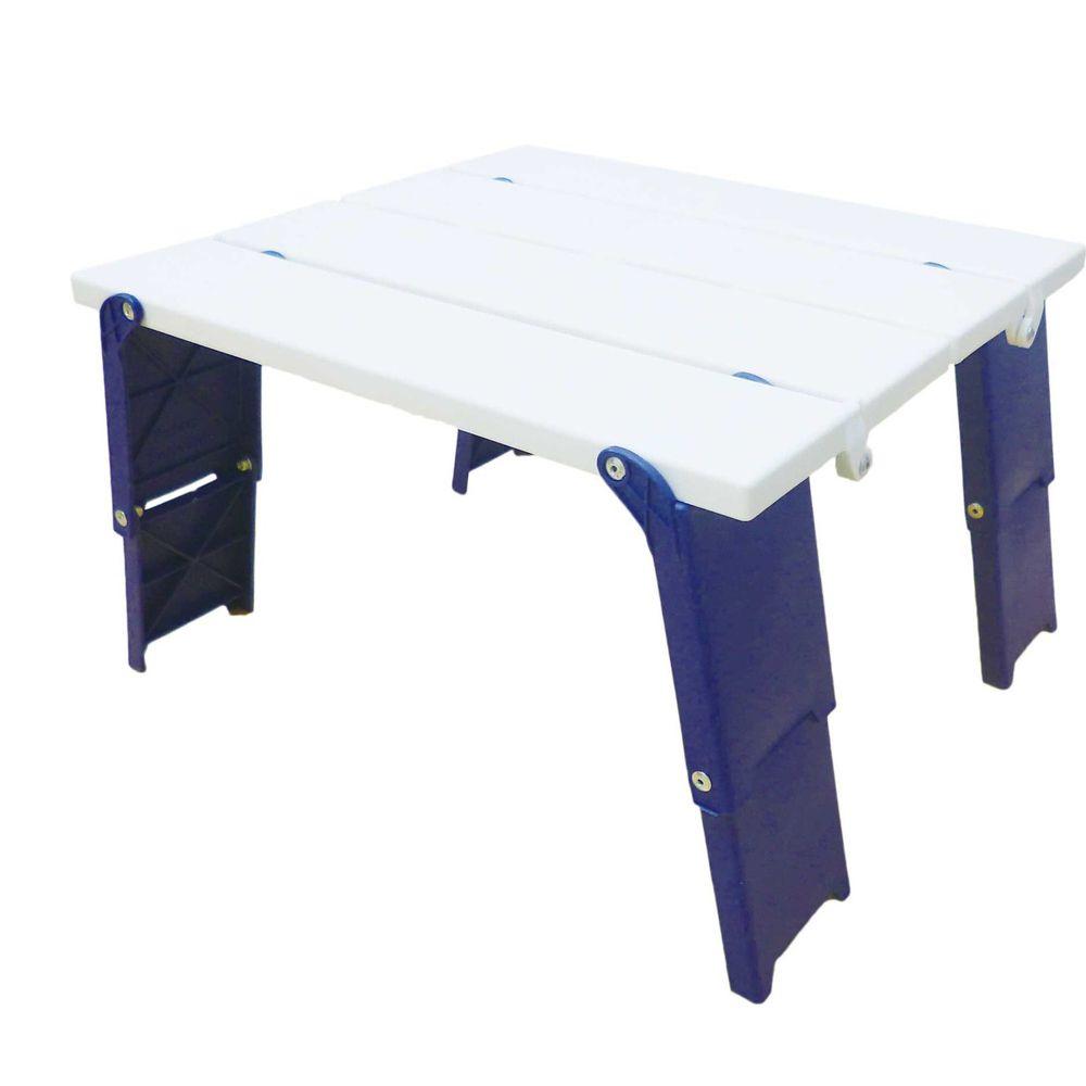 日本代購 - 兩階段輕便摺疊桌-白藍