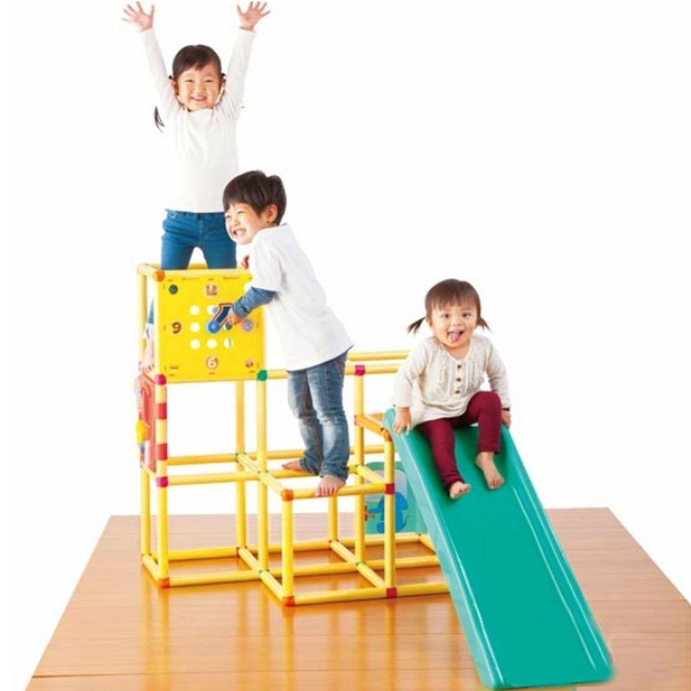 日本 People - 新動動腦力體力三層攀爬架滑梯組