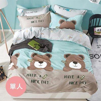 極致純棉寢具組-格林童趣-單人兩件式床包組