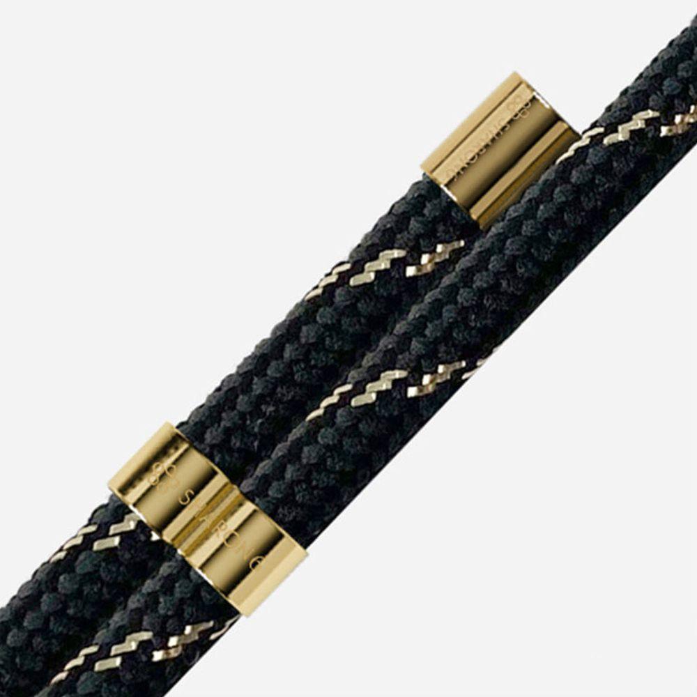 韓國 SHARON6 - 防摔手機殼編繩-gold black