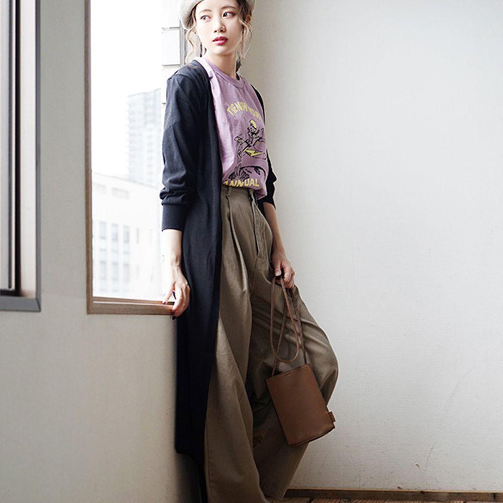 日本 zootie - 涼感X防曬速乾 綁帶長版罩衫/外套-帥氣黑