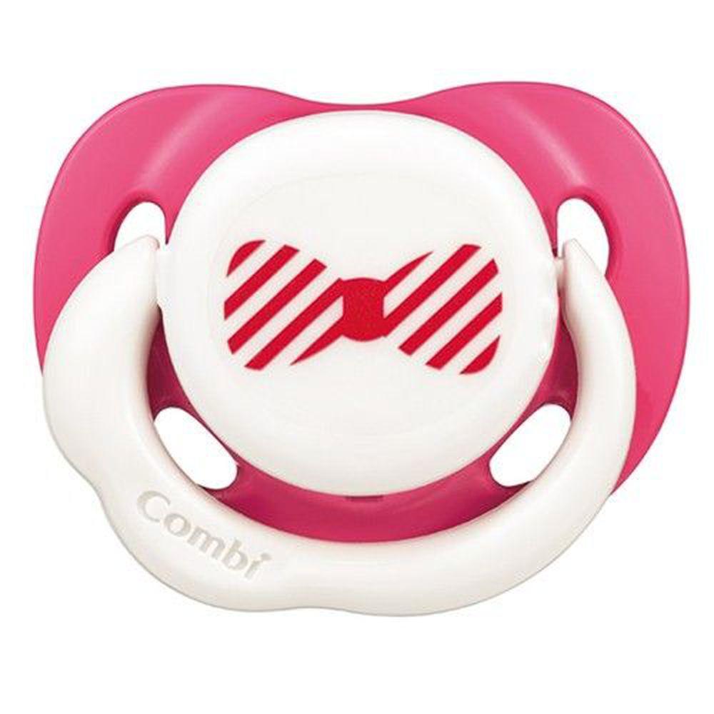 日本 Combi - Smile 微笑安撫奶嘴(含蓋)-微笑紅 (L)
