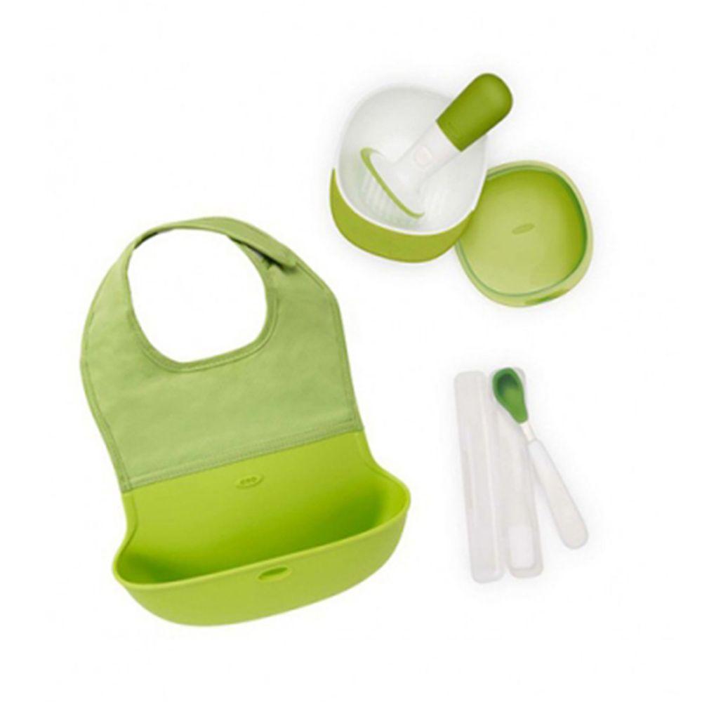 美國 OXO - 出門好好餵禮盒-青蘋綠