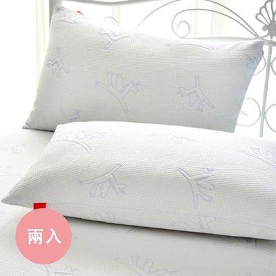 防蹣抗菌透氣防水包覆式保潔枕套-小飛馬-兩入