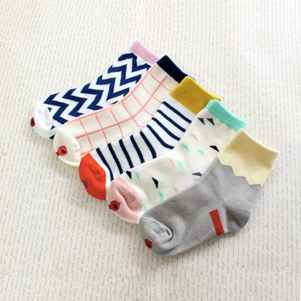 韓國 Kokacharm - 韓國製踝襪-五件組-Lego socks