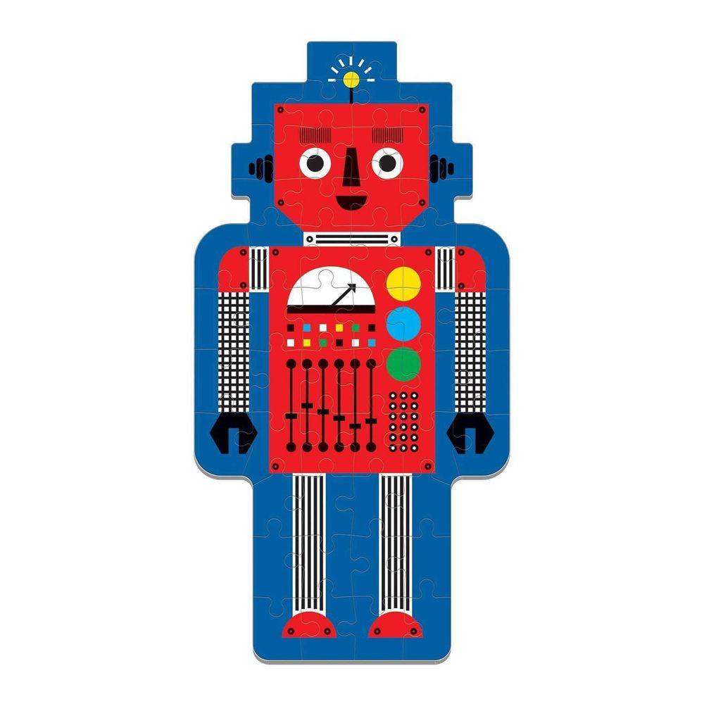 美國 mudpuppy - 美國 mudpuppy-造型人物拼圖-機器人-50片-機器人-團購專案