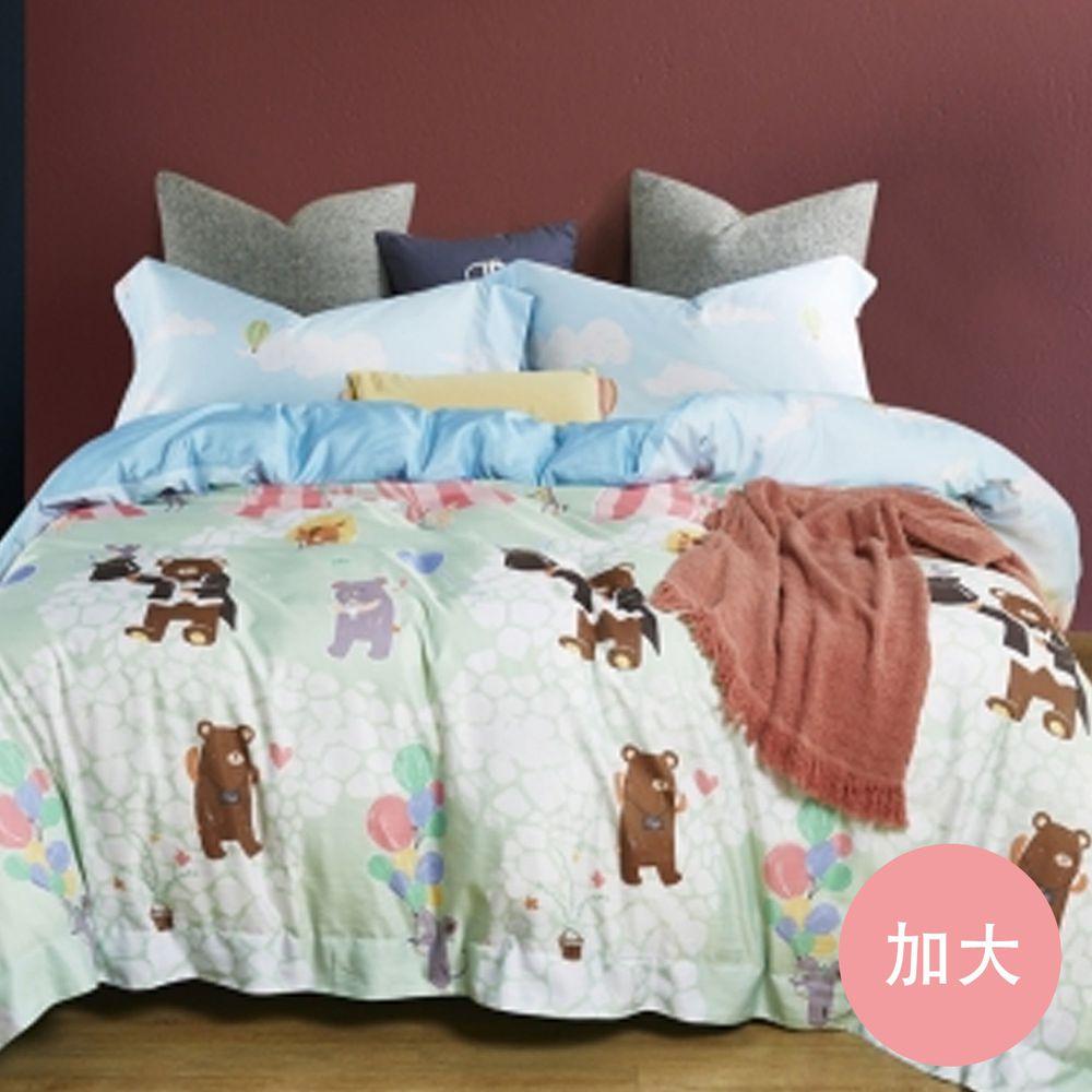 PureOne - 吸濕排汗天絲-舞會派對-加大床包枕套組(含床包*1+枕套*2)