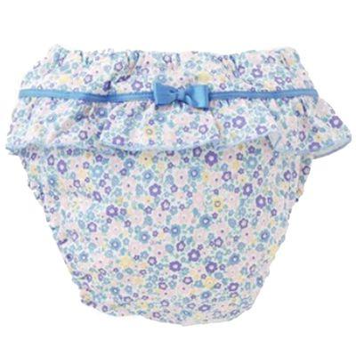 純棉四層學習褲-碎花小裙-水藍