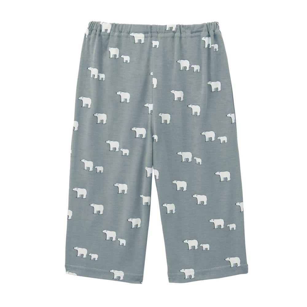 日本千趣會 - 接觸涼感舒適睡褲/家居長褲-北極熊-灰