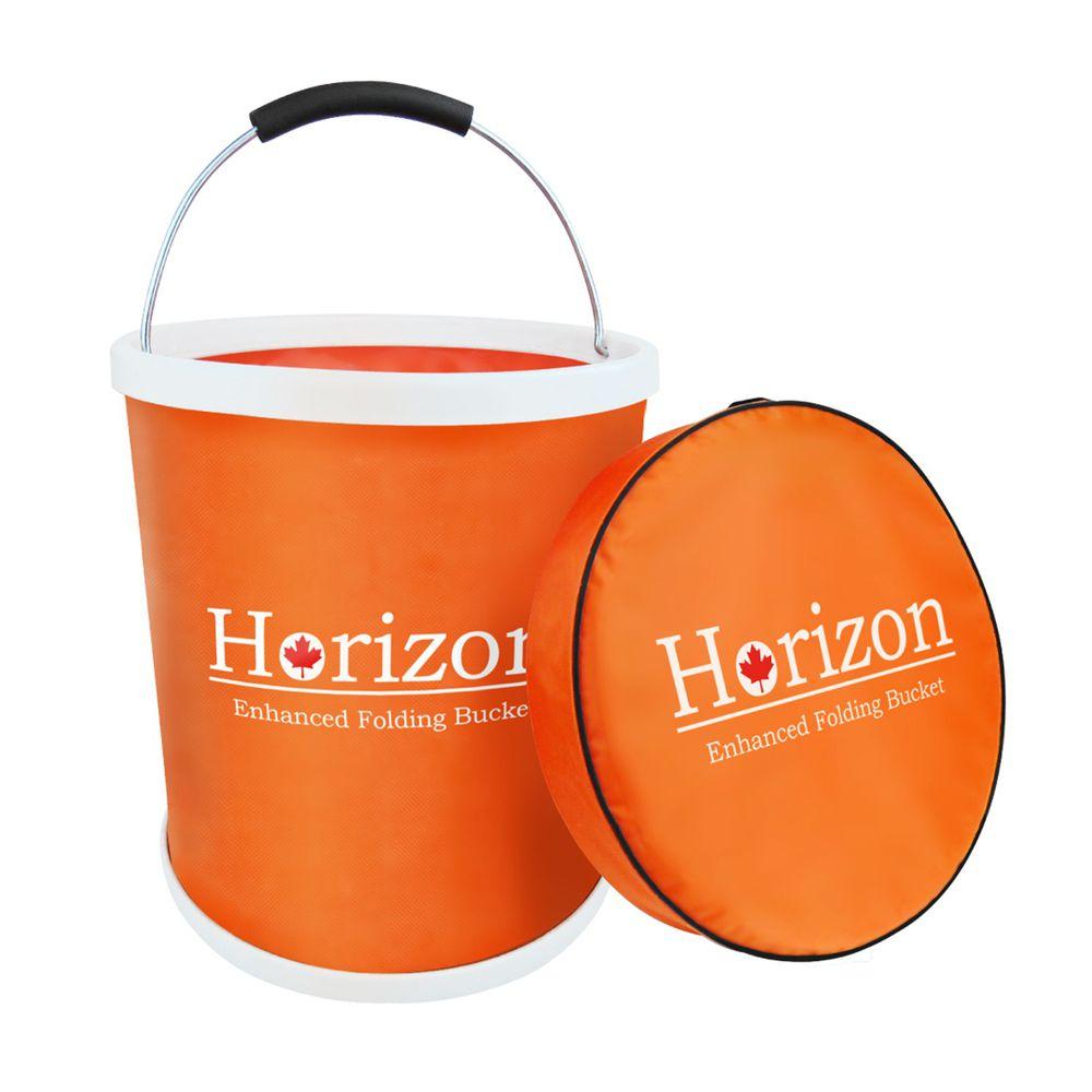 加拿大天際線 Horizon - 強化折疊水桶 ( 13L )-橘