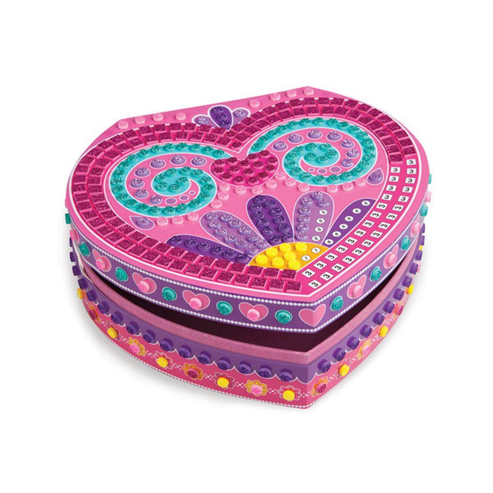 加拿大 Sticky Mosaics - 馬賽克拼貼-心型珠寶盒-653 pcs