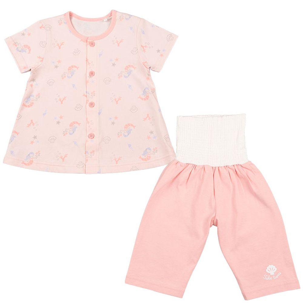 akachan honpo - 短袖家居服 附肚圍吸水速乾-美人魚-粉紅色