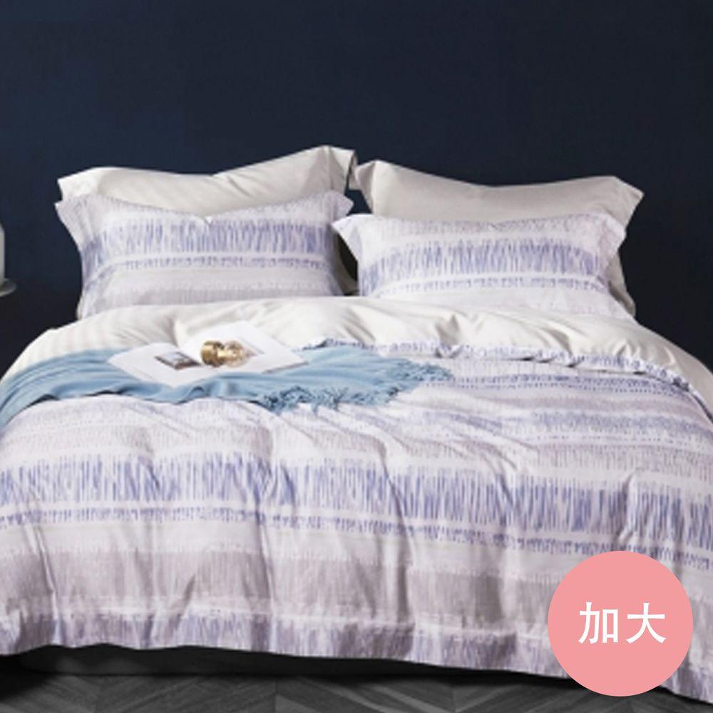 PureOne - 吸濕排汗天絲-夢幻世界-加大床包枕套組(含床包*1+枕套*2)