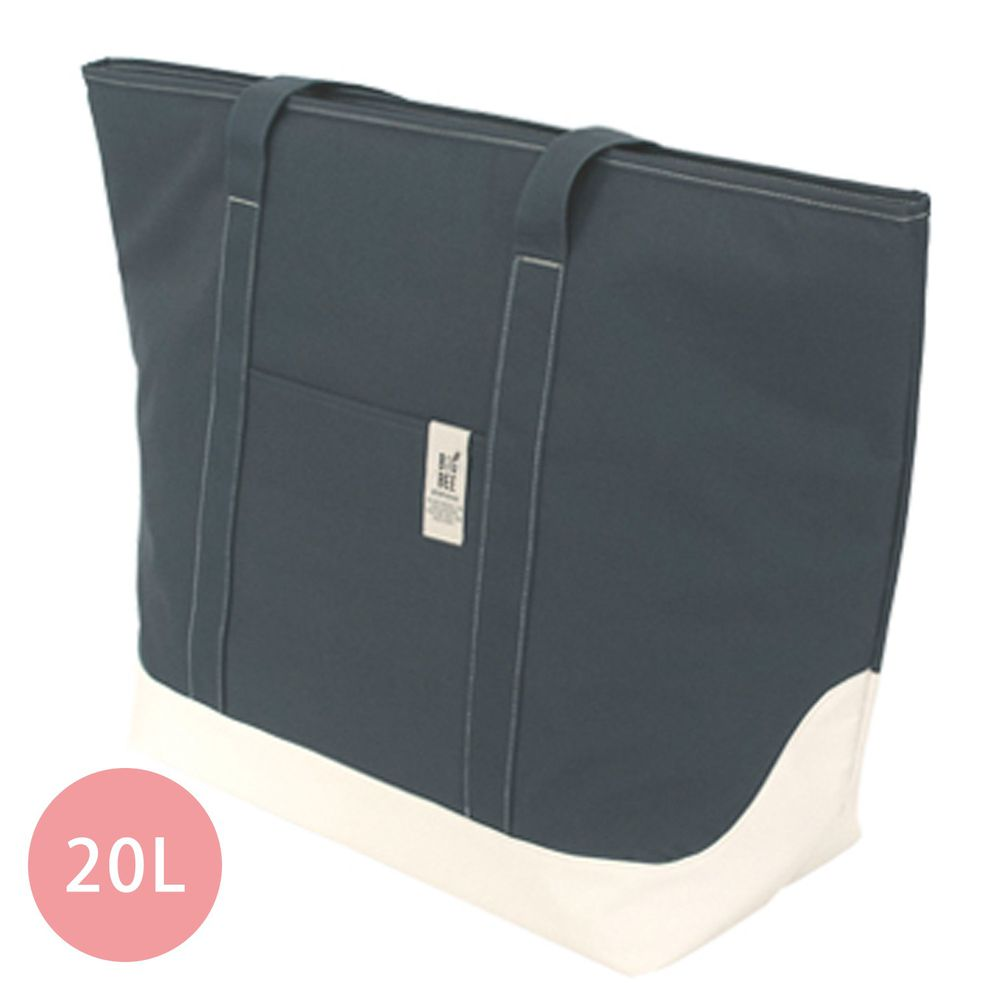 日本 Big Bee - 保冷機能肩背包/購物袋-深藍 (L(63x60cm))-20L