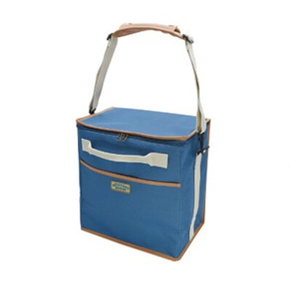 日本現代百貨 - 立體方形 保溫保冷袋/購物袋-20-水藍 (30x20x32cm)