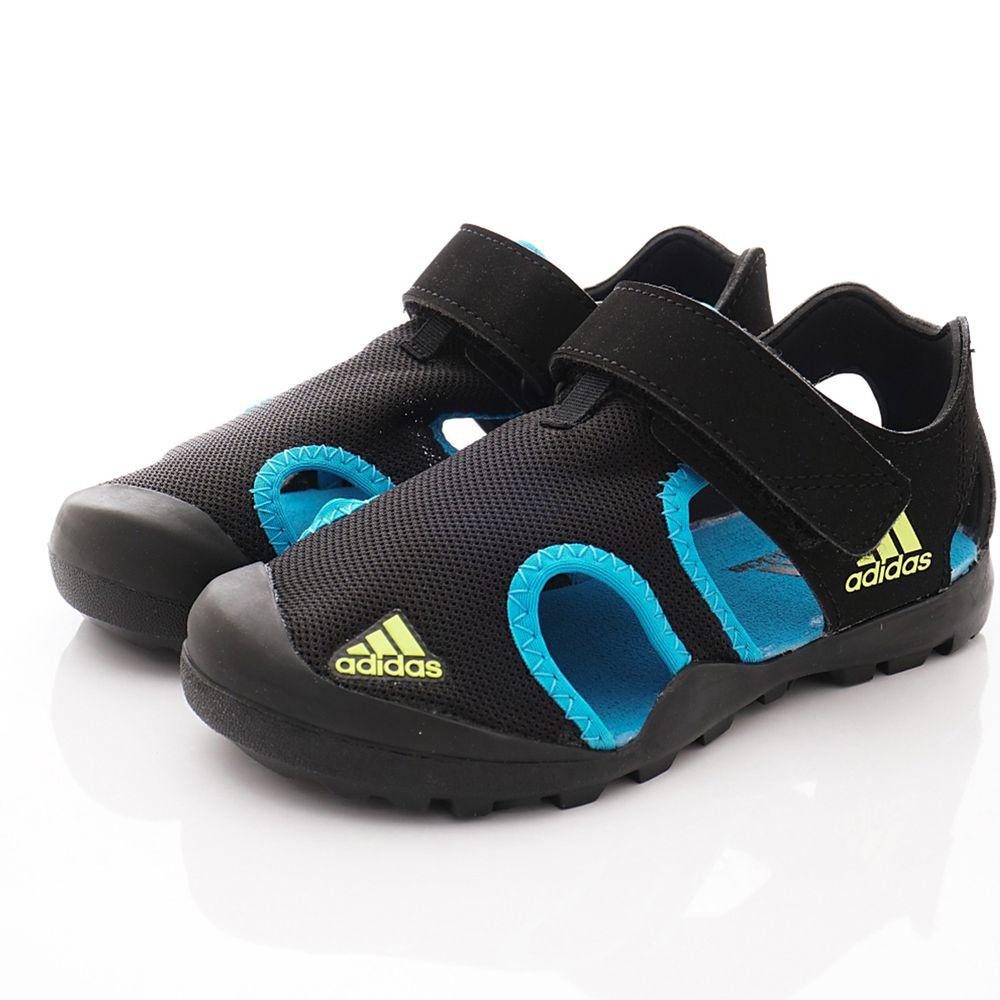 adidas - 愛迪達童鞋-護趾運動涼鞋(中大童段)-黑藍