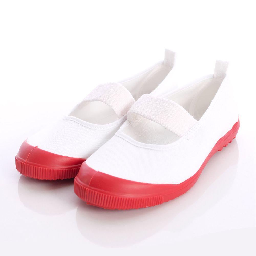 Moonstar日本月星 - 日本月星機能童鞋-日本製經典室內鞋(中小童段)-白紅