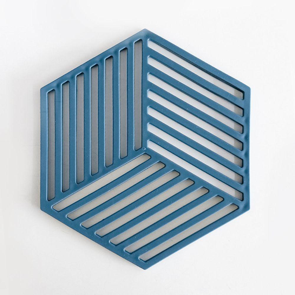 北歐風防滑隔熱墊-線條-藍色