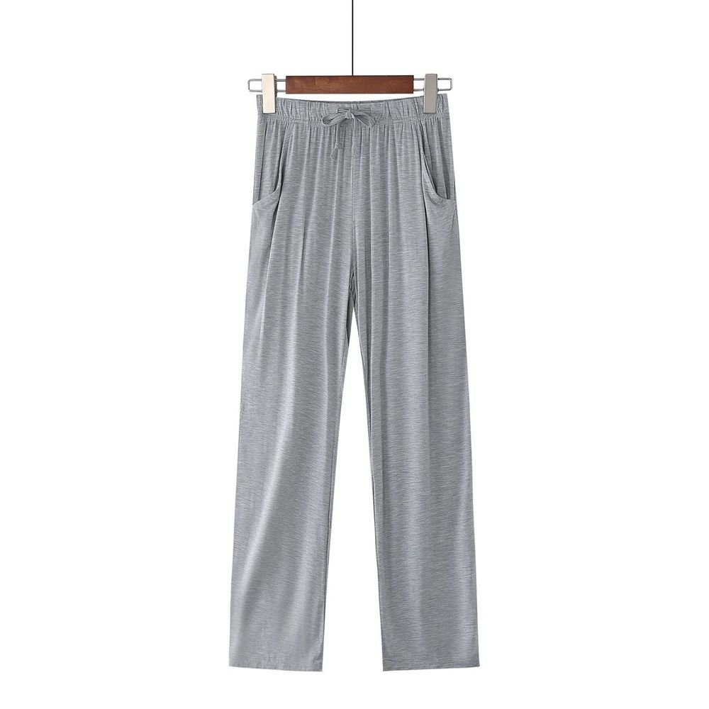 莫代爾柔軟涼感七分褲-灰色