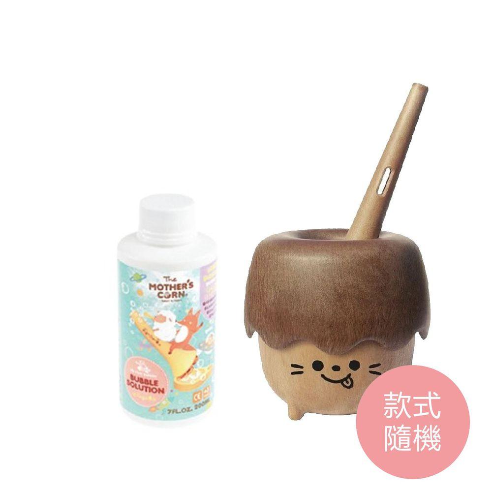 韓國 Mother's Corn - 小木森林兒童泡泡玩具(款式隨機)+兒童專用超多泡泡補充罐(200ml)-團購專案