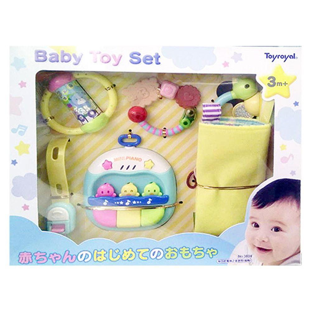 日本 Toyroyal 樂雅 - 寶寶成長玩具禮盒(3m以上) (3M以上)