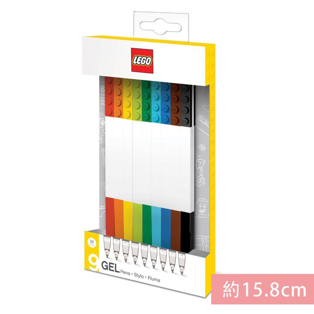樂高 LEGO - LEGO積木原子筆-混色 (9入)-長15.8公分