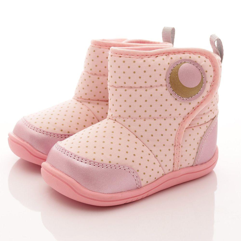 Moonstar日本月星 - 日本月星機能童鞋-點點短靴款(中小童段)-粉