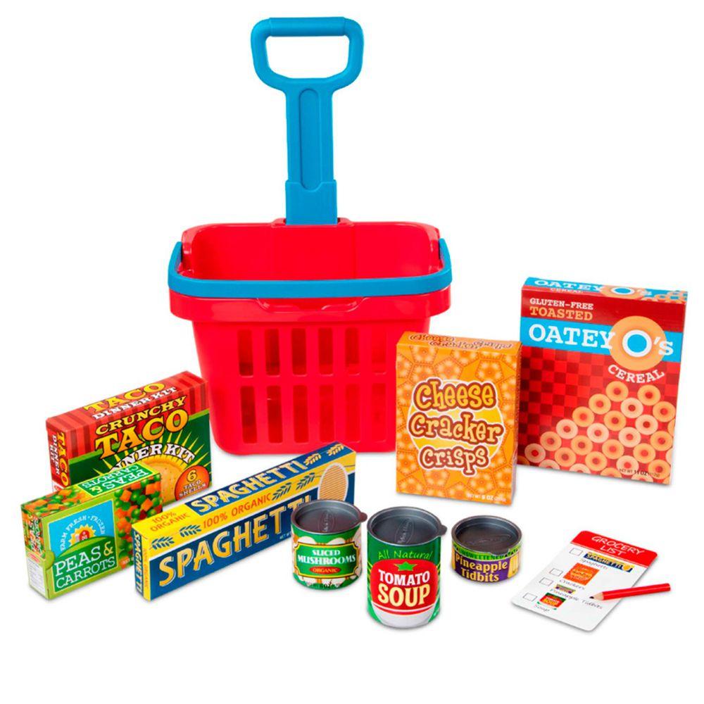 美國瑪莉莎 - MD 玩食趣 - 超市購物玩具籃