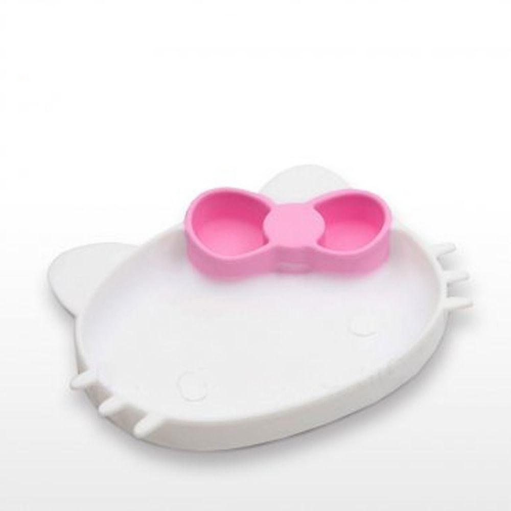 美國 Bumkins - 矽膠餐盤-KITTY