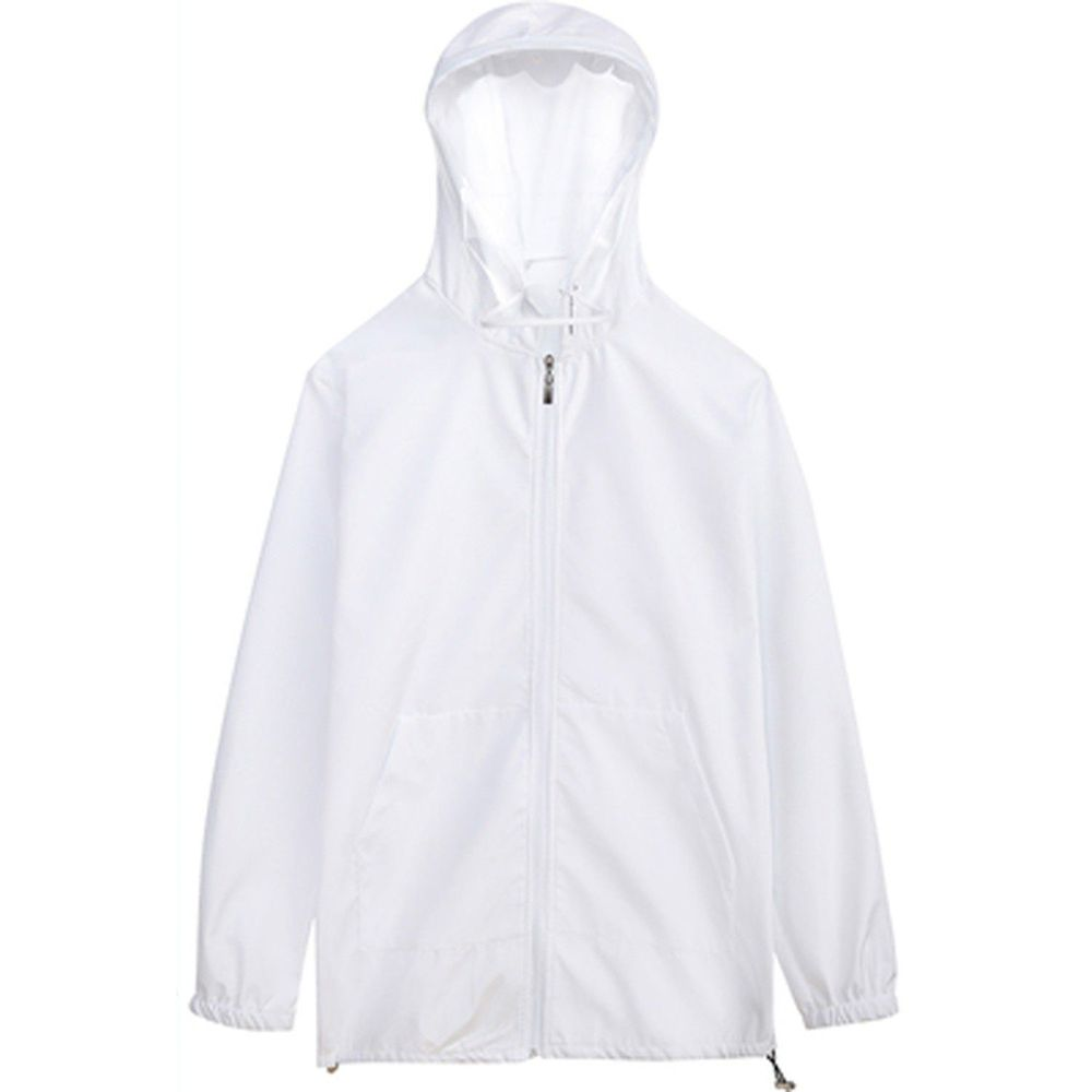 防飛沫連帽外套-一般款-白色-(非醫療用品)