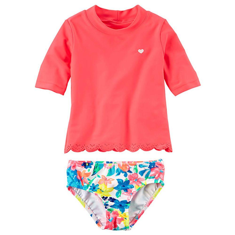 美國 Carter's - 嬰幼兒短袖泳裝-熱帶花園