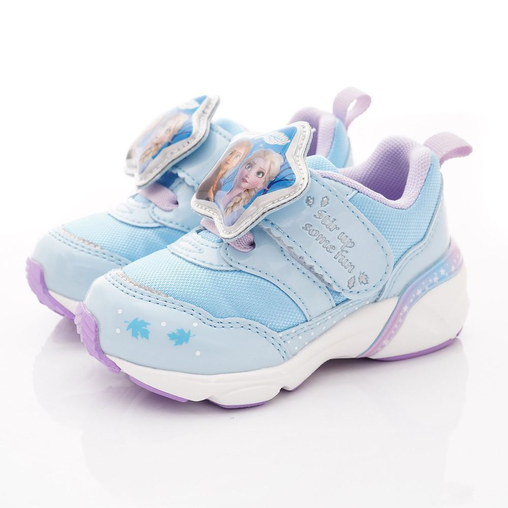 Moonstar日本月星 - 機能童鞋-冰雪聯名電燈款(中小童段)-藍