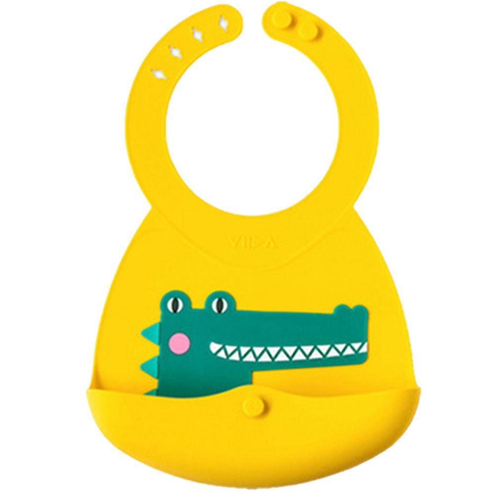 VIIDA - Joy便攜式矽膠圍兜-維克鱷魚