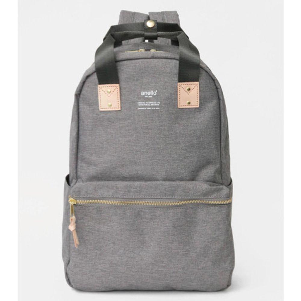 日本 Anello - 氣質設計風後背包-Regular大尺寸-灰色