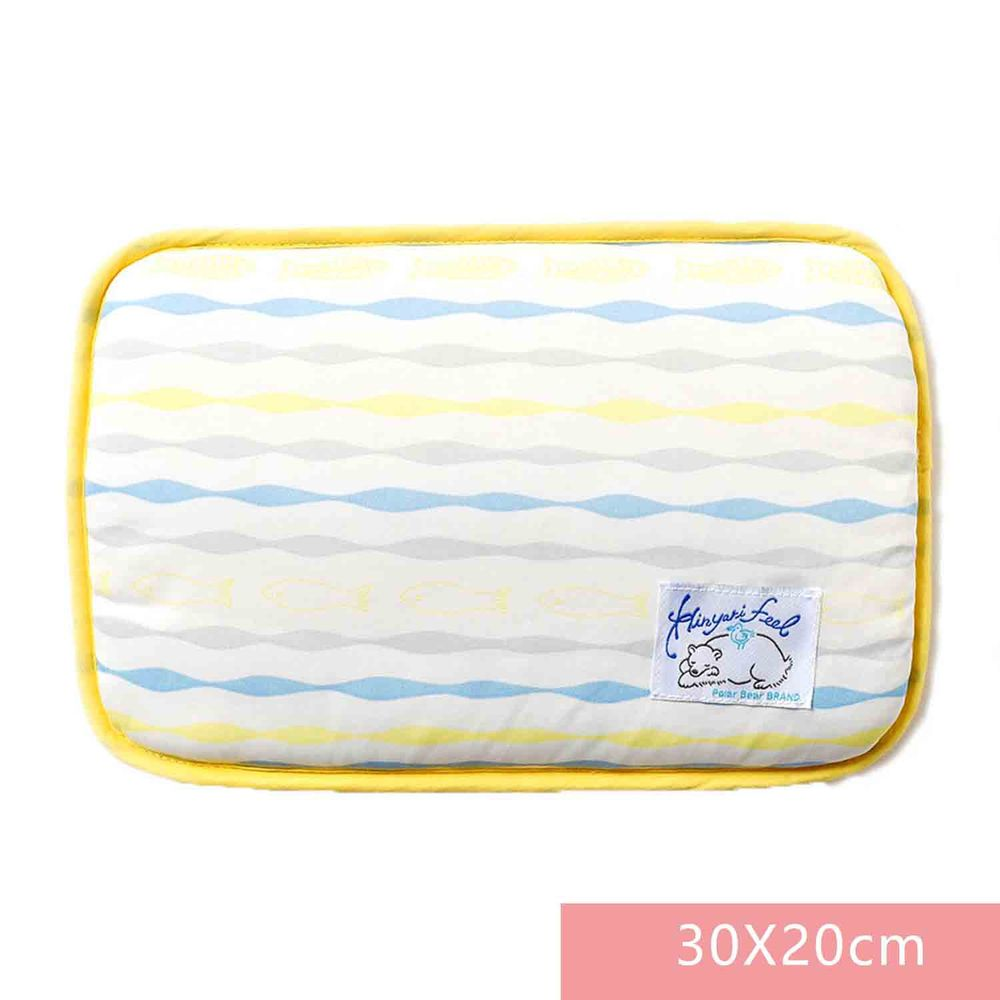 日本SHF - 二重紗內芯涼感午睡枕-藍黃條紋-白底 (30x20cm) (W30×H20cm)