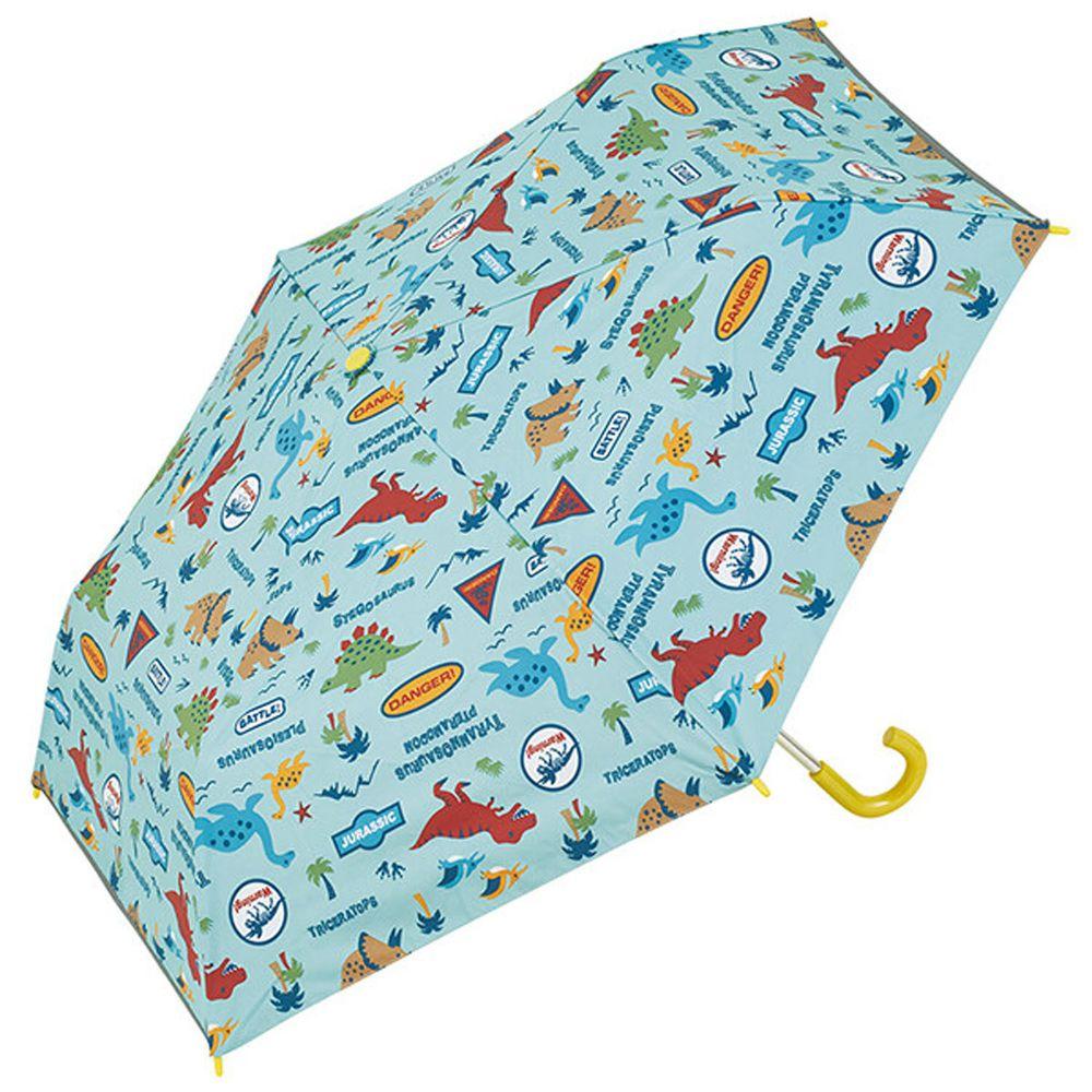 日本 SKATER 代購 - 卡通晴雨兩用折疊傘-恐龍世界-水藍 (50cm(115-125cm))