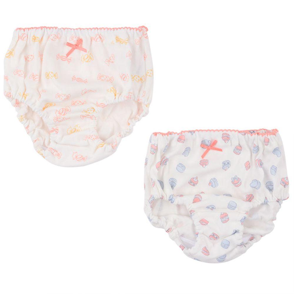 akachan honpo - 內褲2件組-馬卡龍&糖果-白色