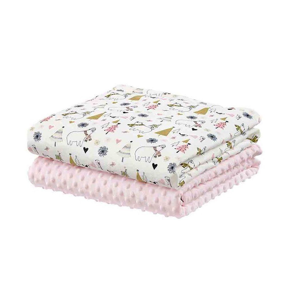 柔仕 - 舒眠豆毯 厚款-耶誕白熊