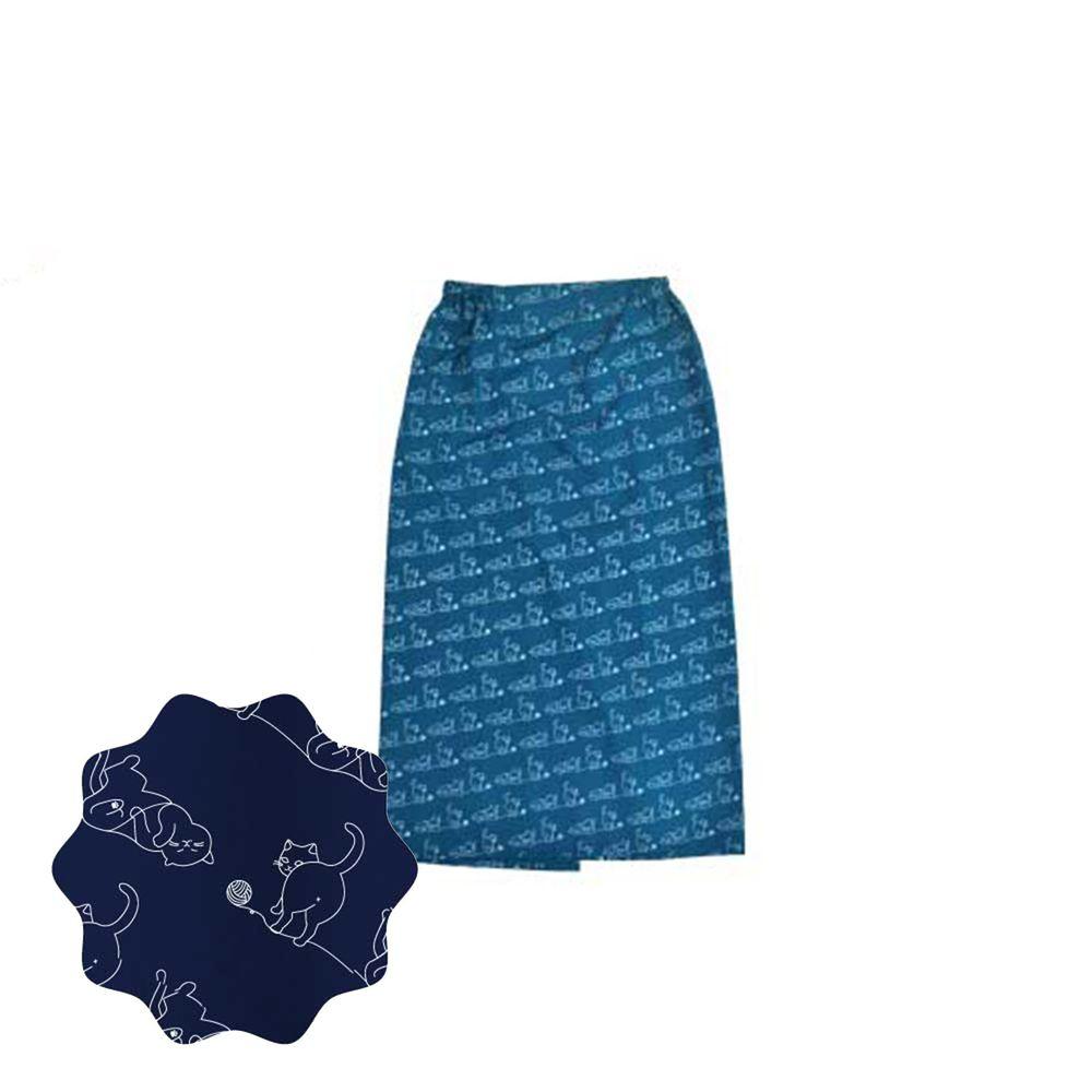 貝柔 Peilou - 貝柔貓日記防風防潑水遮陽裙-玩耍-深藍綠