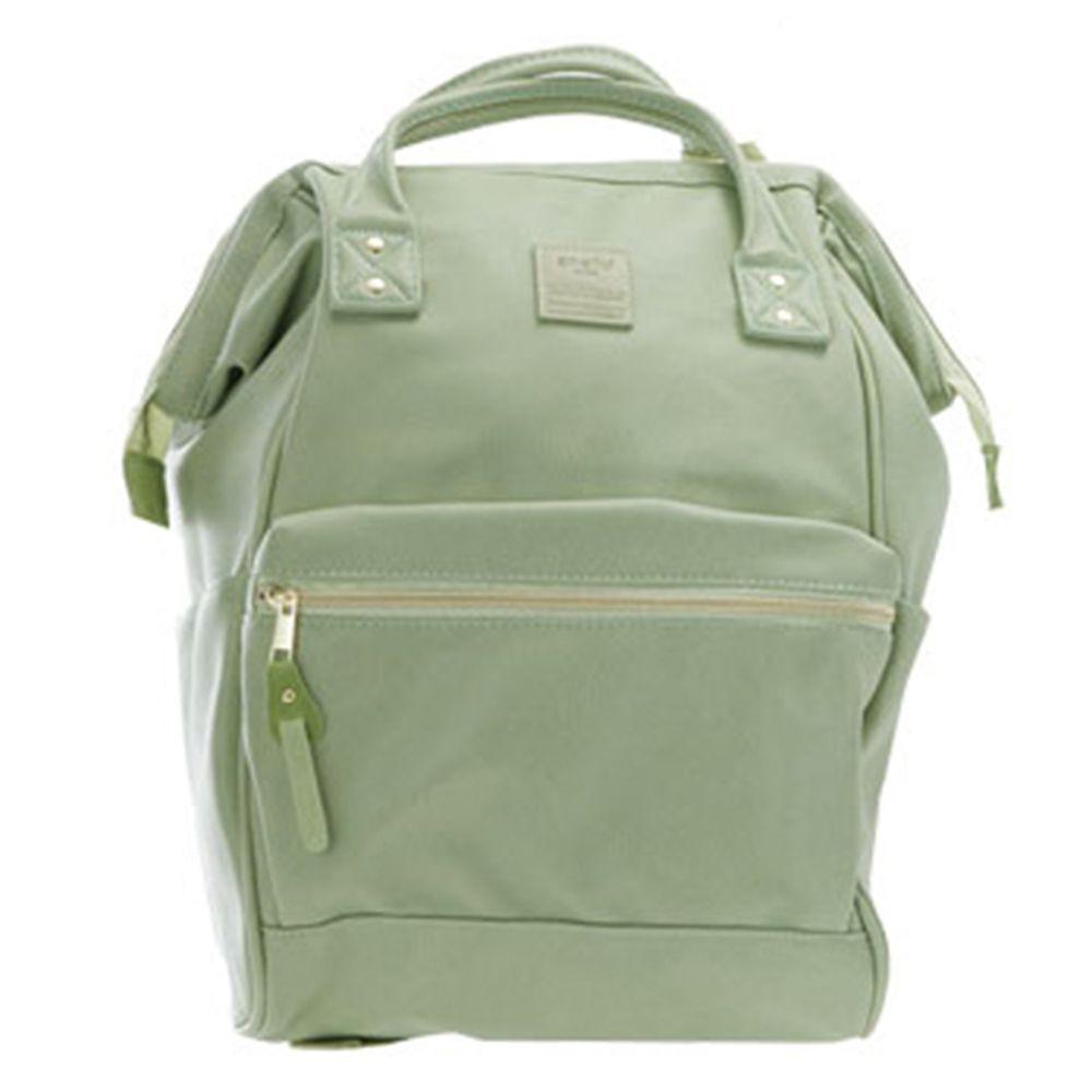 日本 Anello - 日本大開口皮革後背包-mini小尺寸-MTG薄荷綠