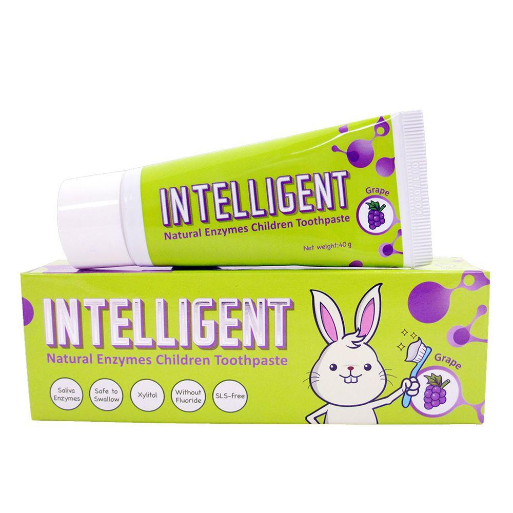 因特力淨 INTELLIGENT - 兒童酵素牙膏(0歲以上,無氟,可吞食)-葡萄-40g
