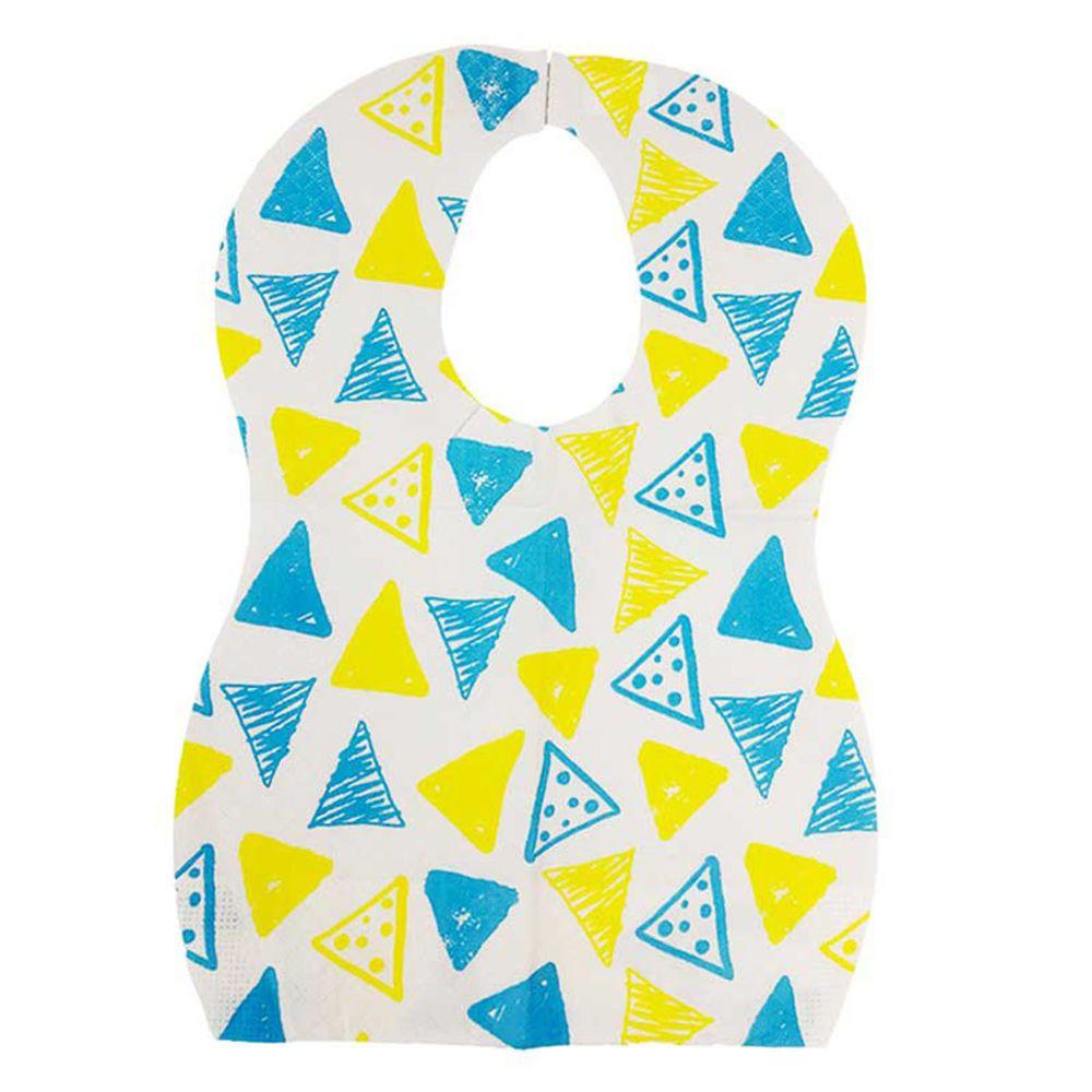 akachan honpo - 拋棄式嬰幼兒圍兜50片入-三角形-34×23cm