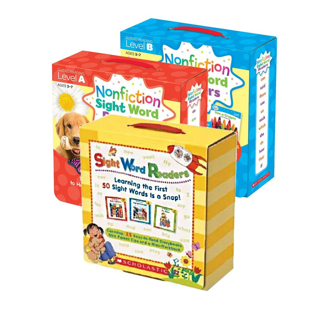 Scholastic - 【超值合購】Nonfiction Sight Word Readers Level A+B+Sight Word Readers Boxed Set-三盒