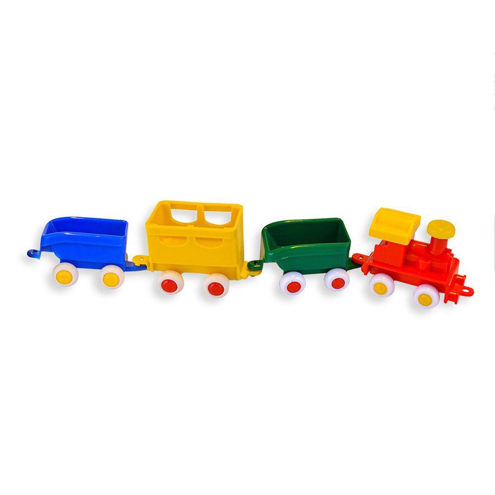 瑞典Viking toys - 【新品】貨運列車(4件組)-7cm