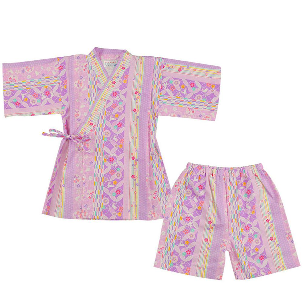 akachan honpo - 幼童兩件式甚平-紫色