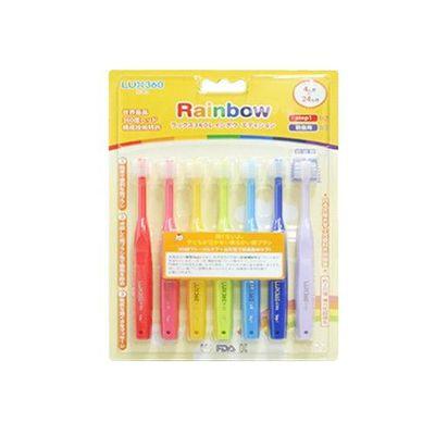 Lux360度幼童牙刷 Step1-Rainbow (4-24m)-7入